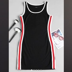 Dresses & Skirts - BRAND NEW red, white, and black bodycon dress